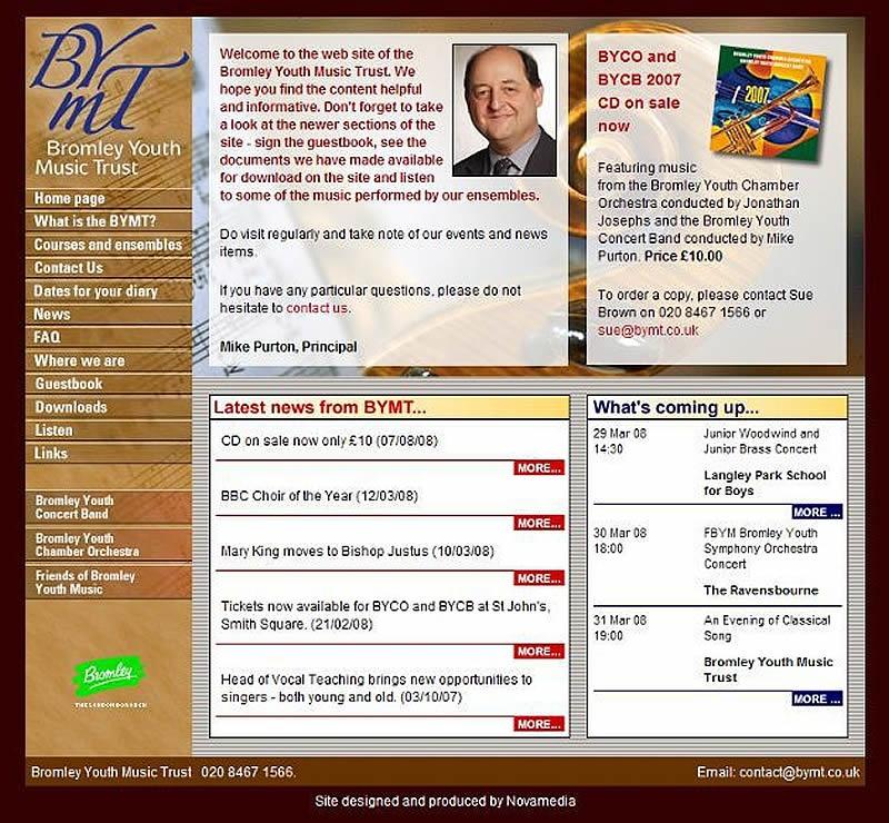 BYMT website 2005